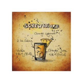 Schraubenzieher-Cocktail-Rezept Holzleinwände