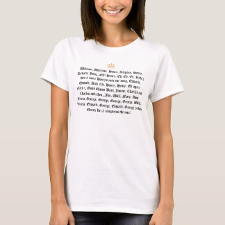 Schreckliche Geschichtskönige und -Queens T-Shirt