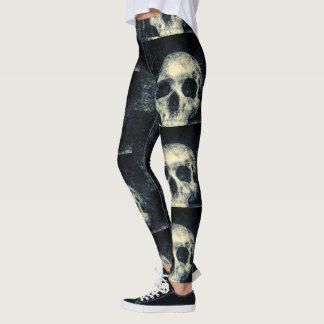 Schrecklicher Schädel Halloweens Leggings