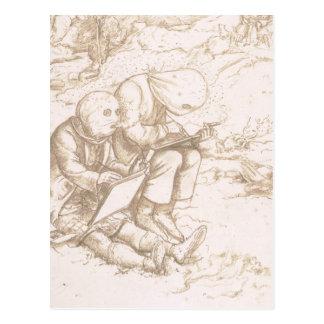 Schrecklicher Schutz gegen Zuckmücken, 1853 (Stift Postkarte