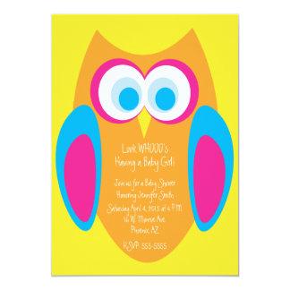 Schrei-Eulen-Babyparty-Einladung 12,7 X 17,8 Cm Einladungskarte
