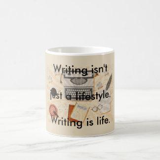 Schreiben ist Leben Kaffeetasse