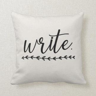 Schreiben Sie an Kissen