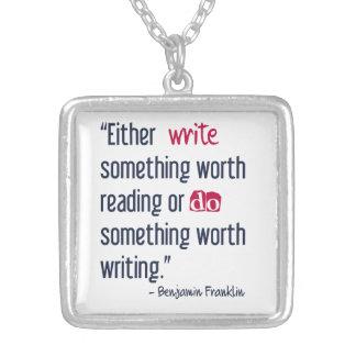 Schreiben Sie etwas wert das Ablesen - Ben Versilberte Kette