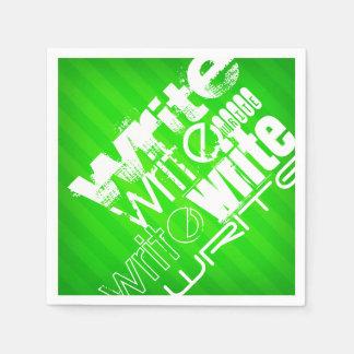 Schreiben Sie; Grüne Neonstreifen Papierserviette