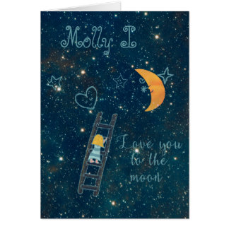 Schreiben Sie Ihre Liebe in den Sternen Karte