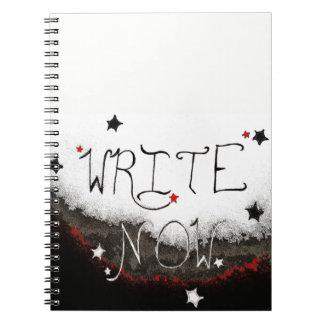 """""""Schreiben Sie jetzt"""" helles Himmel-Notizbuch Spiral Notizblock"""
