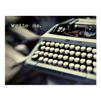 Schreiben Sie mich, Vintage Schreibmaschinen-Postk Postkarten