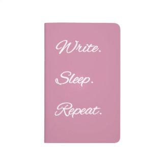 Schreiben Sie. Schlaf. Wiederholung. Zeitschrift Taschennotizbuch