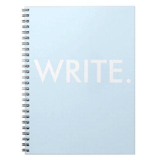 Schreiben Sie Spiral Notizblock