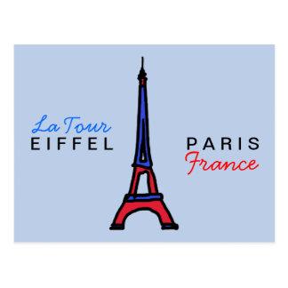schreiben Sie über Paris Frankreich Postkarte