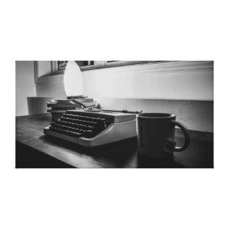 Schreiben Sie Verfasser Leinwanddruck