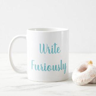 Schreiben Sie wütend Kaffee-Tasse Kaffeetasse