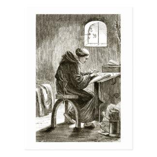 Schreiben St. Vincent in seiner Zelle bei Ferins, Postkarte