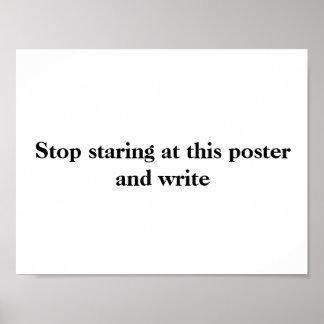 Schreibens-Plakat #2 Poster