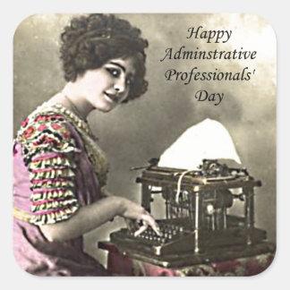 Schreibkraft-administrativer beruflicher Tag Quadrat-Aufkleber