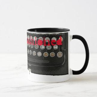 Schreibmaschine im altem Stil Tasse