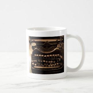 Schreibmaschine Kaffeetasse