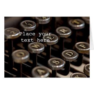 Schreibmaschine Karte