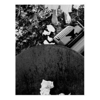 Schreibmaschinen-Postkarte Postkarte