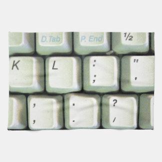 Schreibmaschinen-Tastatur Geschirrtuch
