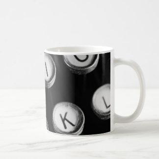 Schreibmaschinentasten Kaffeetasse