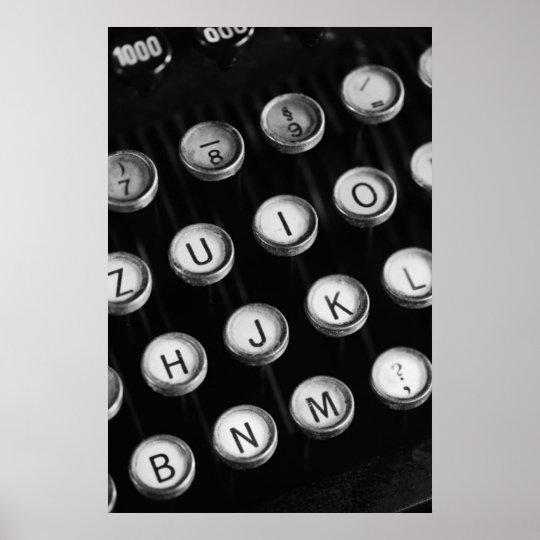 Schreibmaschinentasten Poster