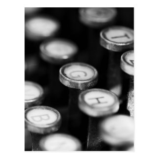 Schreibmaschinentasten Postkarten