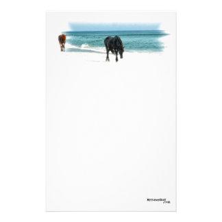Schreibpapier, Pferdeentwurf, Reiter Briefpapier