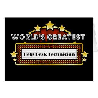 Schreibtisch-Techniker der Welt bestster Hilfs Karte