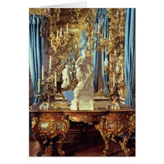 Schreibtisch und Statue von Louis XV Karte