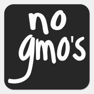 Schreien keines GMOs schützen unser Quadratischer Aufkleber