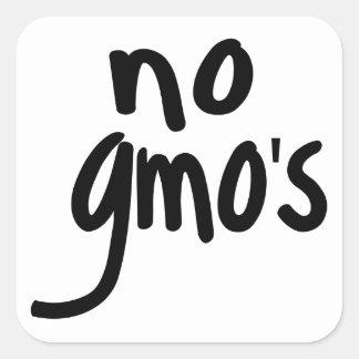 Schreien keines GMOs schützen unsere Nahrung Quadratischer Aufkleber