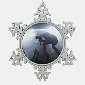 Schreien Sie es heraus! Schneeflocken Zinn-Ornament