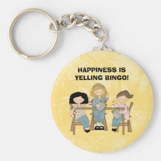 Schreien von Bingo keychain Standard Runder Schlüsselanhänger