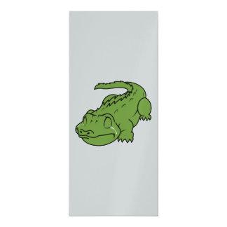 Schreiende grüne 10,2 x 23,5 cm einladungskarte
