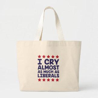 Schreiende Liberale Jumbo Stoffbeutel