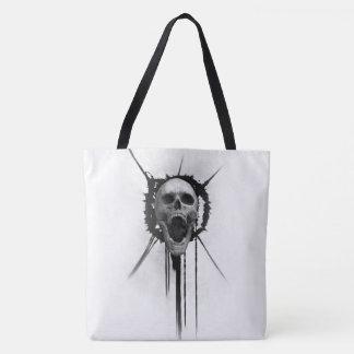 Schreiende Schädel-(weiße) Taschen-Tasche Tasche