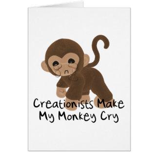 Schreiender Affe Grußkarte