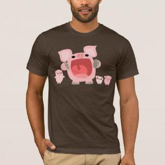 Schreiender Cartoon-Schwein-T - Shirt:) T-Shirt