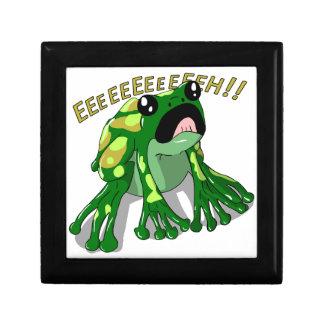 Schreiender Frosch-Gekritzel-Nudel-Entwurf Geschenkbox