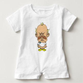 Schreiender Whiny wenig Baby Strampler