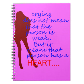 schreiendes Damenherz Notiz Buch