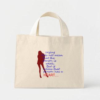 schreiendes Damenherz Einkaufstaschen