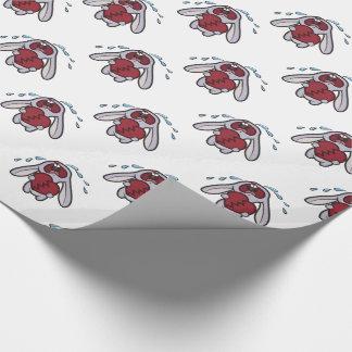 Schreiendes Häschen mit defektes Herz-Muster Geschenkpapierrolle