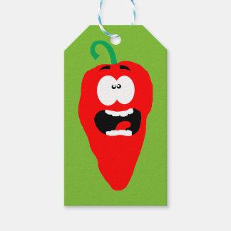 Schreiendes Rot - heißer Chili-Pfeffer Geschenkanhänger