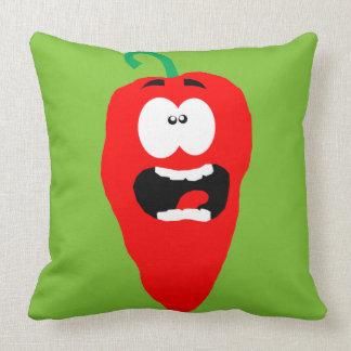 Schreiendes Rot - heißer Chili-Pfeffer Kissen