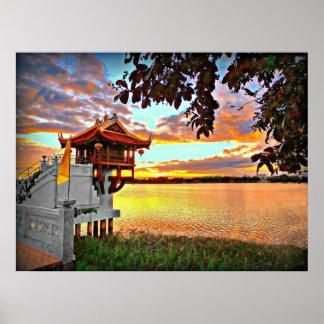 Schrein auf dem See Poster