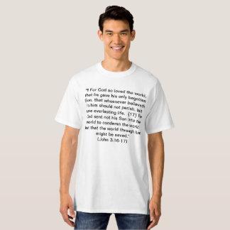 Schrift - John-3:16 - 17 + Ephesians 6:14 - 17 T-Shirt