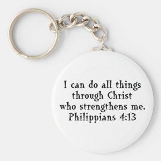 Schrift Phil-4:13 Schlüsselanhänger
